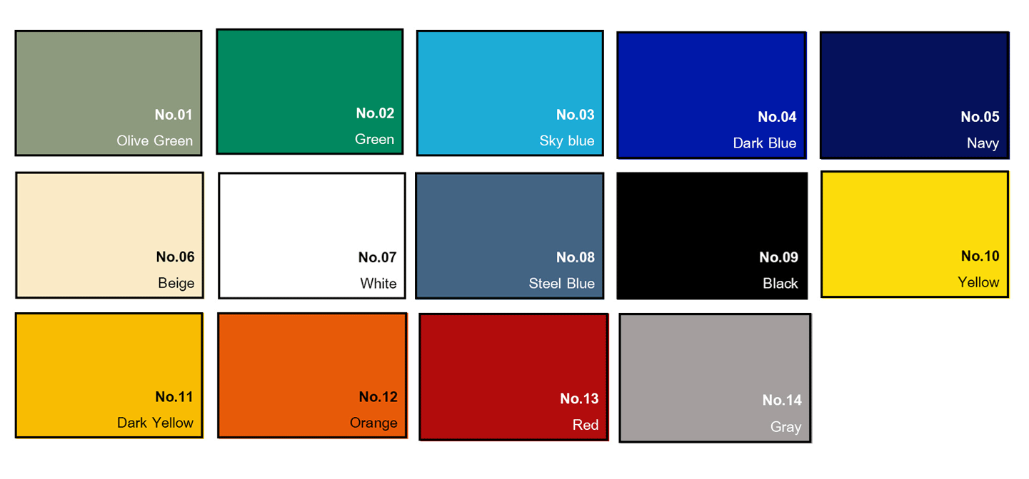 fabric color choices of tent